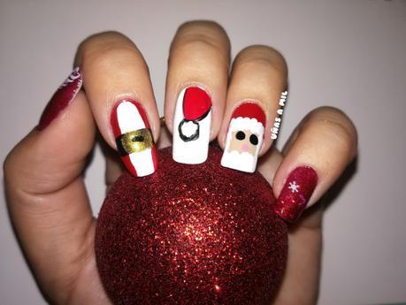 Diseño de uñas para Navidad: Papa Noel