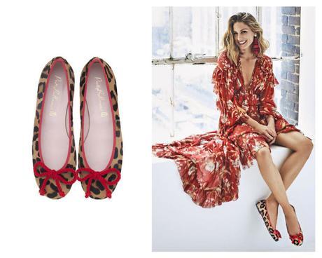 bailarina animal print zapato rojo