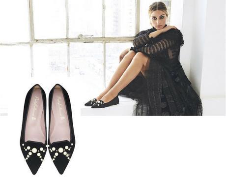 zapato bailarina negro Pretty Ballerinas