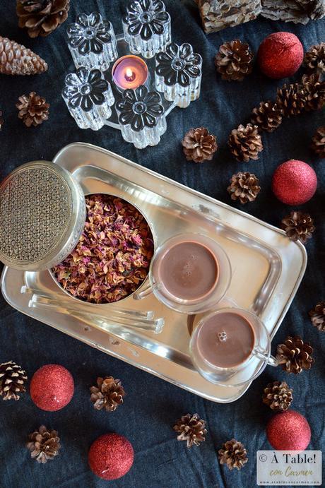 Chocolate a la Taza al Aroma de Rosas