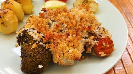 Coliflor y brócoli gratinados crujientes