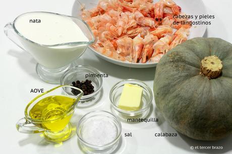 Ingredientes salsa marisco Huevos mollet