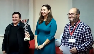 Rafael Gonzalez Custodio Campeón II Torneo Navideño ajedrezmurciano 2017