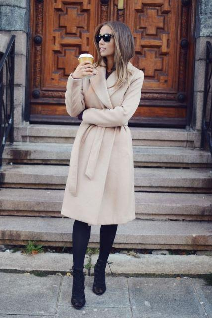 wrap coat beige 1