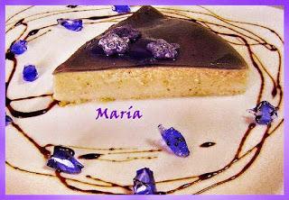 Tarta fresca de violetas