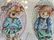 Galletas decoradas pareja corderitos