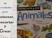 Libro colorea, corta crea animales