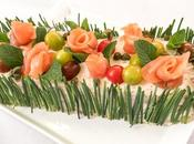 Pastel salmón aguacate molde, entrante fácil para sorprender