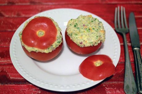 Tomates rellenos con quinoa
