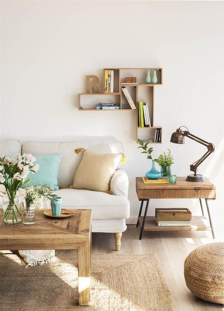Como decorar la pared de tu sofa paperblog for Estanteria colgar pared