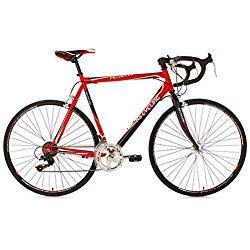 KS Cycling Piccadilly 260B - Bicicleta de carretera, color rojo, ruedas 28