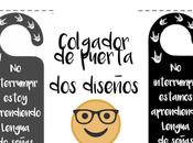 "Colgador puerta ""Lengua Señas"" gratis"