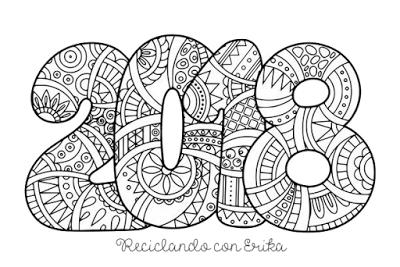 Hoja Para Colorear 2018 Con Mandalas Paperblog
