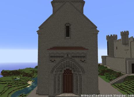 Réplica Minecraft de la Ermita de San Pedro de Tejada, Puente Arenas, Burgos, España.