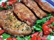 Receta filetes lomo empanados Filetti maiale impanati pomodori