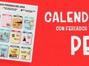 Calendario 2018 perú feriados para imprimir gratis