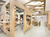 locales unidos entrelazado madera.