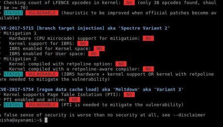 Cómo saber si tu Linux es vulnerable a los fallos de seguridad Meltdown y Spectre