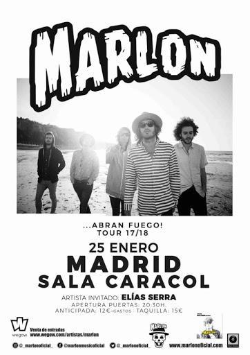 MARLON EN LA SALA CARACOL DE MADRID- JUEVES 25 DE ENERO