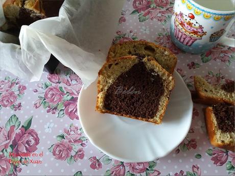 Cake de plátano y chocolate