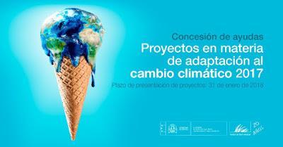 Convocatoria de concesión de ayudas de la Fundación Biodiversidad, en régimen de concurrencia competitiva, para la realización de proyectos en materia de adaptación al cambio climático 2017