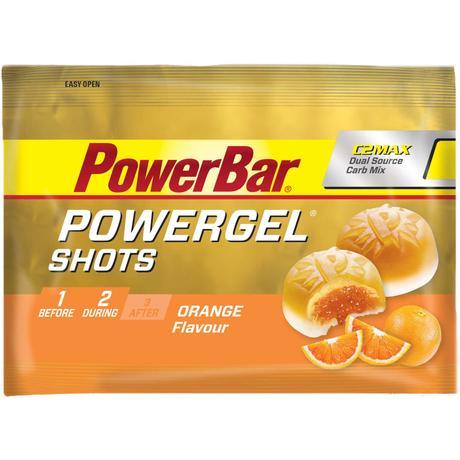 Bocados masticables PowerBar PowerGel Shots Orange (16 x 60 g) - Barritas energéticas