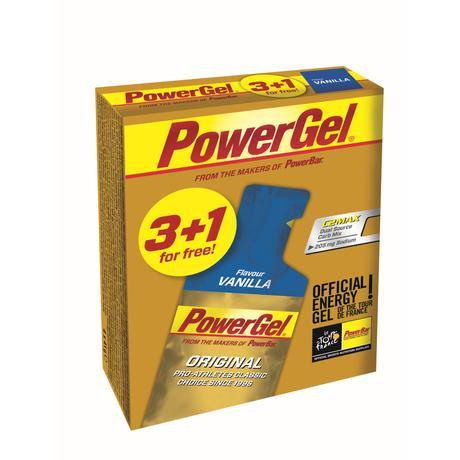 Geles energéticos PowerBar PowerGel (3+1 gratis, vainilla) - Geles energéticos
