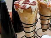 Novedosa Deliciosas #pizzas forma cono #helado (FOTO)
