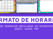 Formatos horario clases gratis 2018 para imprimir (Excel, Word, PDF)