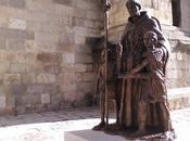 Nueva estatua Alcalá Henares. enero 2018