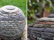 Davin Devine hace esculturas piedras jardín usar cemento originales