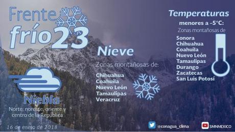 Este miércoles San Luis Potosí estará a -5° de temperatura