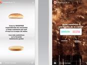 Burger King permite pedir hamburguesas través Instagram Stories
