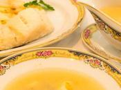 Sopa pescado patatas bacalao salsa mostaza (plato doble thermomix)