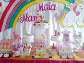 decoración fiesta infantil unicornio