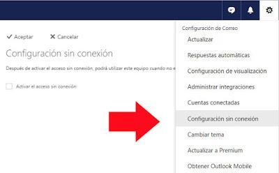 Configuracion: Acceder a tu correo Outlook sin conexion a internet