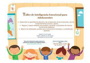 Taller Inteligencia Emocional para adolescentes