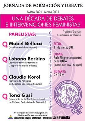 """""""Una década de debates e intervenciones feministas"""""""