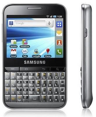 Samsung Galaxy Pro, con teclado QWERTY y pantalla táctil