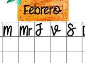 Planificador floral Febrero versión acuarela