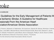Guía 2018 sobre tratamiento precoz pacientes accidente cerebrovascular isquémico agudo American Heart Association/American Stroke Association