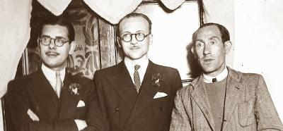 Los ajedrecistas Medina, Llorens y Sola, vencedores del Campeonato Individual de Catalunya 1944