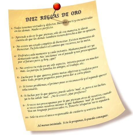 10 reglas de oro del bienestar