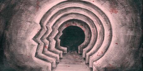 Ilusión óptica de laberinto que se repite, como símbolo de la Psicología