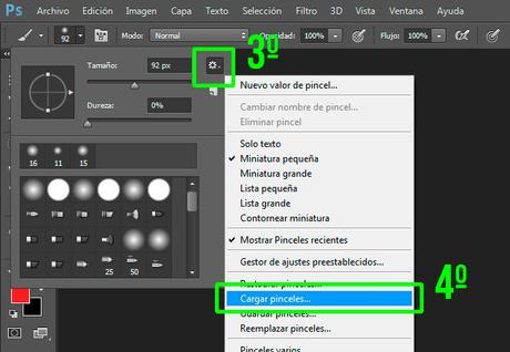 Tutorial Cómo Cargar Pinceles en Adobe Photoshop Imagen_2