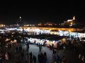 Marrakech; Palacios Badii Bahía, Mellah Jemaa noche