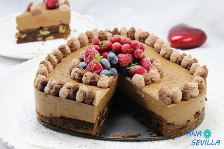 Tarta mousse de chocolate con brownie Thermomix Ana Sevilla