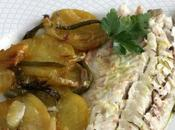Lubina horno patatas pobre, receta ideal para comer pareja