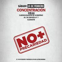 20 grupos precarios en España. ¡NO + PRECARIEDAD!