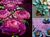 Ideas hermosas para bordar flores lentejuela